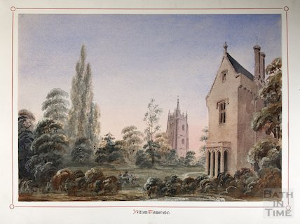 Bitton Church tower from the vicarage, 1846
