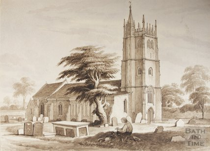 Watercolour of St Mary's from NW by Henry Aston Barker (1774-1856) prior to, 1820