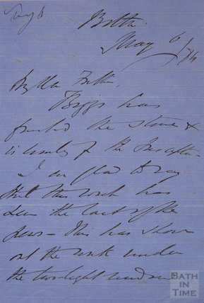 Letter from Ellacombe with sketch to Mr Fulham?, 1884?