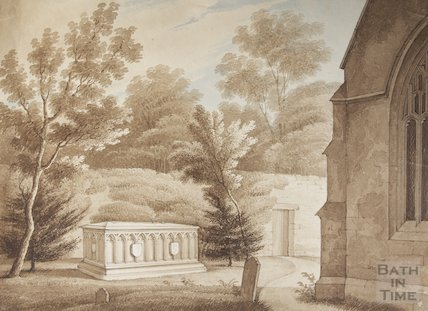 Watercolour of HT Ellacombe's Tomb unknown