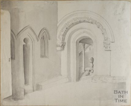 Interior of St Mary's Church Bitton, 1820