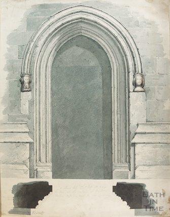 Church doorway by Woodroffe, location unknown, 1820-1830