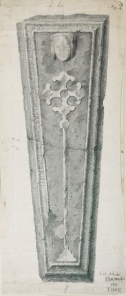 Coffin lid of de Bitton's wife Emotte de Hesdings in St Mary's Church Bitton unknown