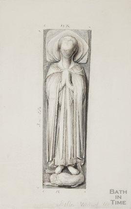 Medieval effigy, 1845