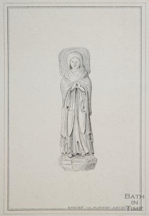Medieval effigy, 1850
