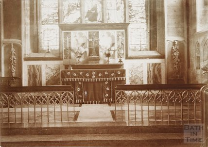 reredos of altar of St Mary's Church Bitton (Photograph)