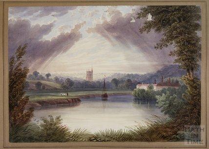 Watercolour St Mary's Church Bitton