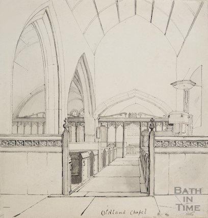 Oldland Chapel Interior, 1827