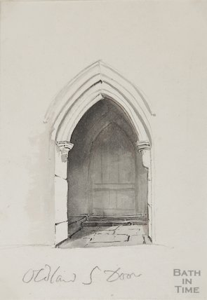Oldland Church south Door, 1827?