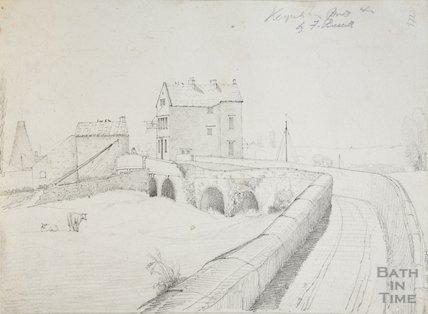 The White Hart at Keynsham Bridge, 1830s?