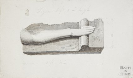 Remains (arm) of statue of Christ, 1830?