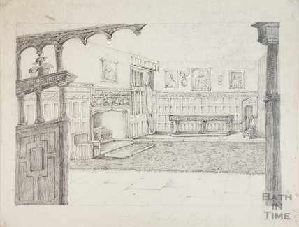 Hanham Abbots Hall Interior, 1844