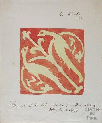 Medieval tile, 1844