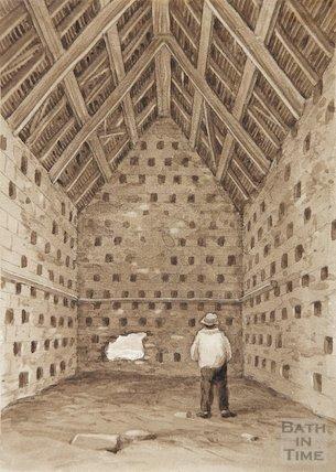 Dovecote Interior at Church Farm Bitton 19C