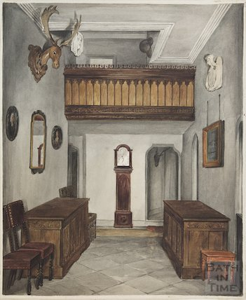 Hall of Bitton Vicarage prior to, 1830