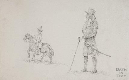 Sketch of, 18C figure