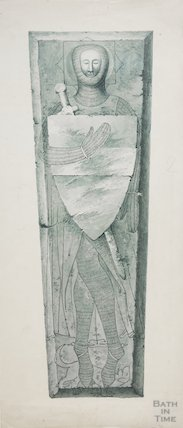 Coffin lid of knight