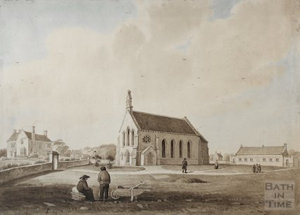 Odland Church (St Anne's) and National School, 1830s