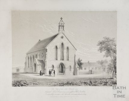 Oldland Church ( St Anne's) and National School, 1830s