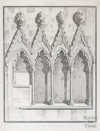 Stalls (cidillia) in Bitton Church, 1803