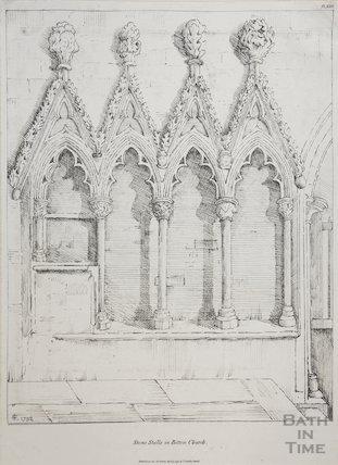 Stall (cidillia) in Bitton Church 1792