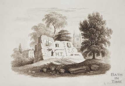 Sketches at Bitton begun in 1825 by H. T. Ellacombe