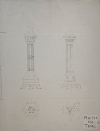 Sketches for lectern base, 1840