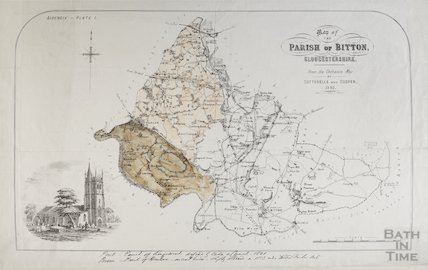 Map of the Parish of Bitton 1842