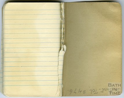 Pages from a Bath Firewatcher's Diary during WWII 1940-41
