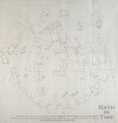 A Plan of the outline of the Contiguous Stones of Choir Gaure by John Wood 1747