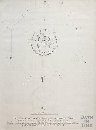 A Plan of Choir Gaure, vulgarly called Stonehenge, by John Wood, 1747