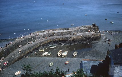 The quay, Clovelly, North Devon, c.1959