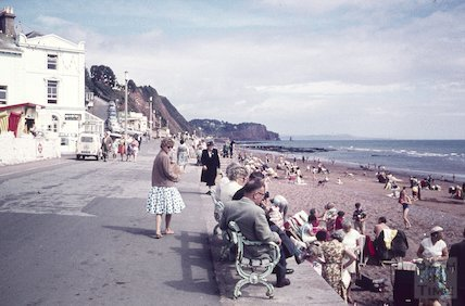 Den Promenade, Teignmouth, Devon, 1961