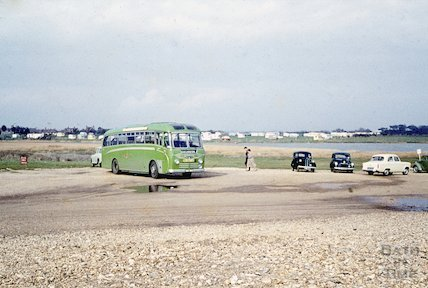 A coach excursion to Milford on Sea, 27 March 1959
