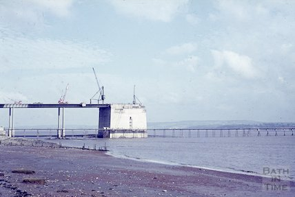 Constructing the first Severn Bridge, 1963