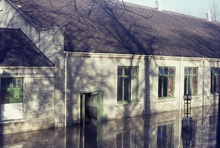 The Pavilion, Bath flooded, c.1960