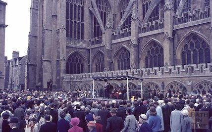 The opening of the Bath Festival, Kingston Parade, 1965