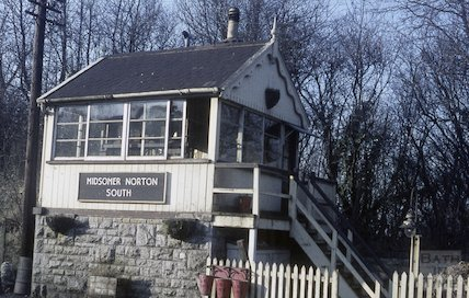 The signal box at Midsomer Norton South, c.1965