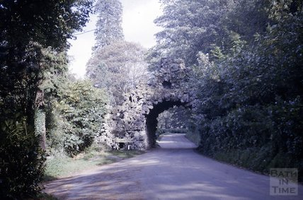 The Rock Arch at the entrance to Stourhead, Wiltshire, c.1965