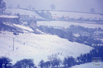 A snowy scene in the Bath area, c.1963