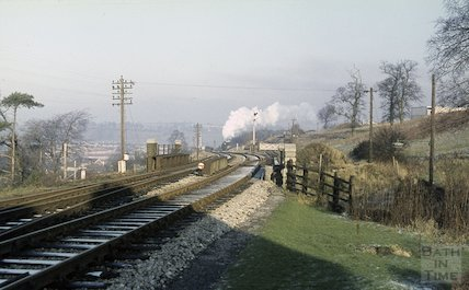 A steam train near Midsomer Norton, c.1965