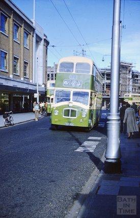 The 45 bus in Brighton, c.1960s