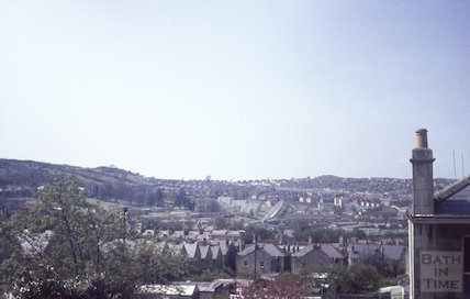View from Chaucer Road, Bear Flat, towards Southdown, c.1960s