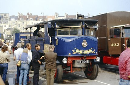 A Super Sentinel steam wagon at a rally in Bath, c.1980s?