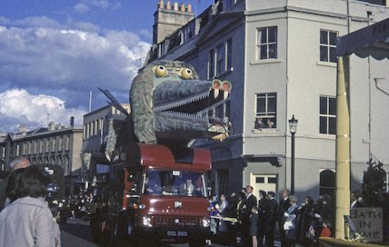 Carnival Procession in Lower Borough Walls, Bath, c.1960s
