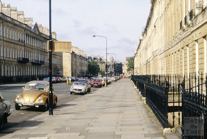 View down Great Pulteney Street, c.1980s