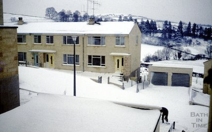 Snow in Fairfield Park, Bath in the winter of 1962 / 3