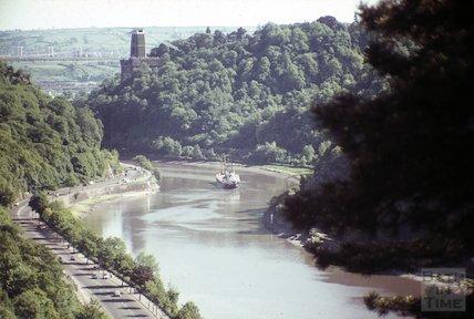 The Clifton Suspension Bridge and the Avon Gorge, Bristol, c.1960s