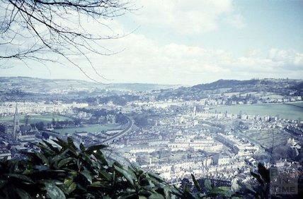 View from Beechen Cliff towards Bathwick, c.1960