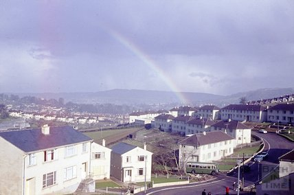 Rainbow over Fairfield Park, Larkhall, Bath, c.1960s